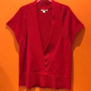 Coldwater Creek Knitted Red Top 12